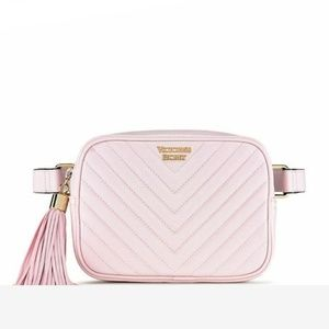 VICTORIA'S SECRET QUILTED PURSE FANNY PACK PINK